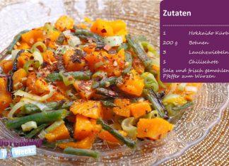 Kürbis-Bohnen-Salat