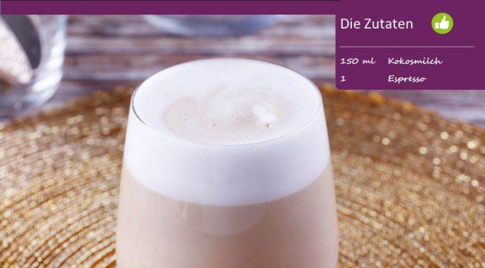 Latte Macchiato mit Kokosmilch