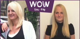Lisa im vorher nachher Vergleich