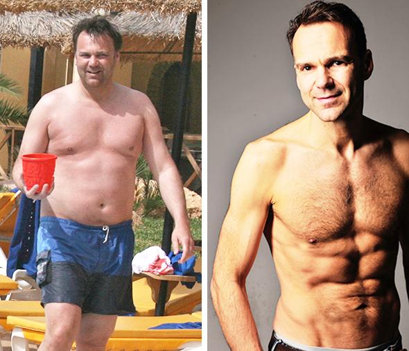 Ingos Strandfigur vor und nach dem abnehmen
