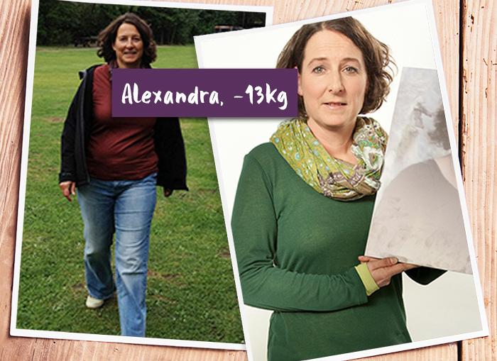 Alexandra ist stolz auf ihren Erfolg