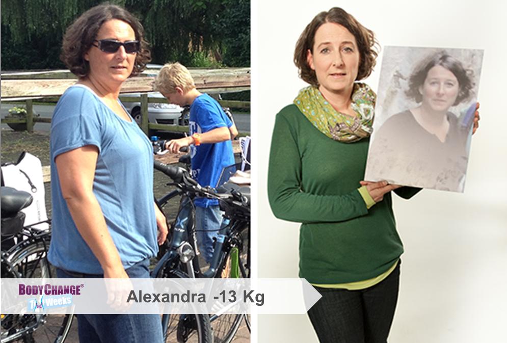 BodyChange® Erfolgsgeschichte Alexandra -13 kg