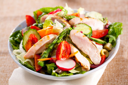 Proteine Hähnchenbrust Salat