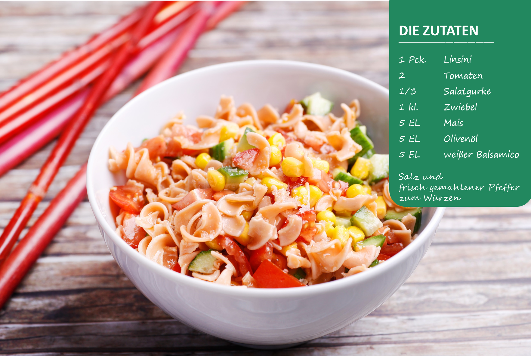 BodyChange Rezept Bunter Nudelsalat