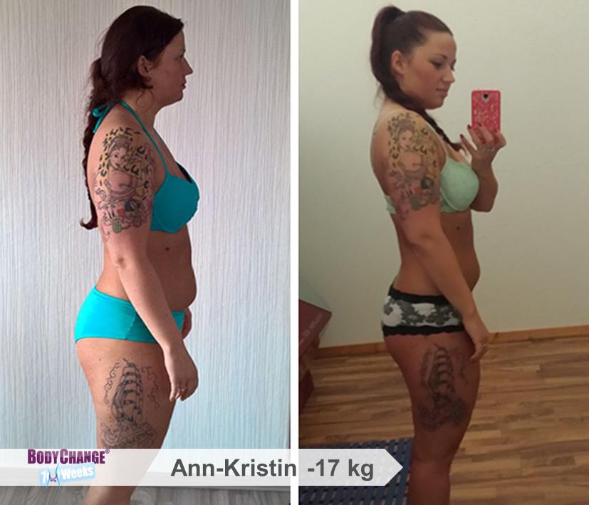 BodyChangerin Ann-Kristin Vorher-Nachher-Vergleich