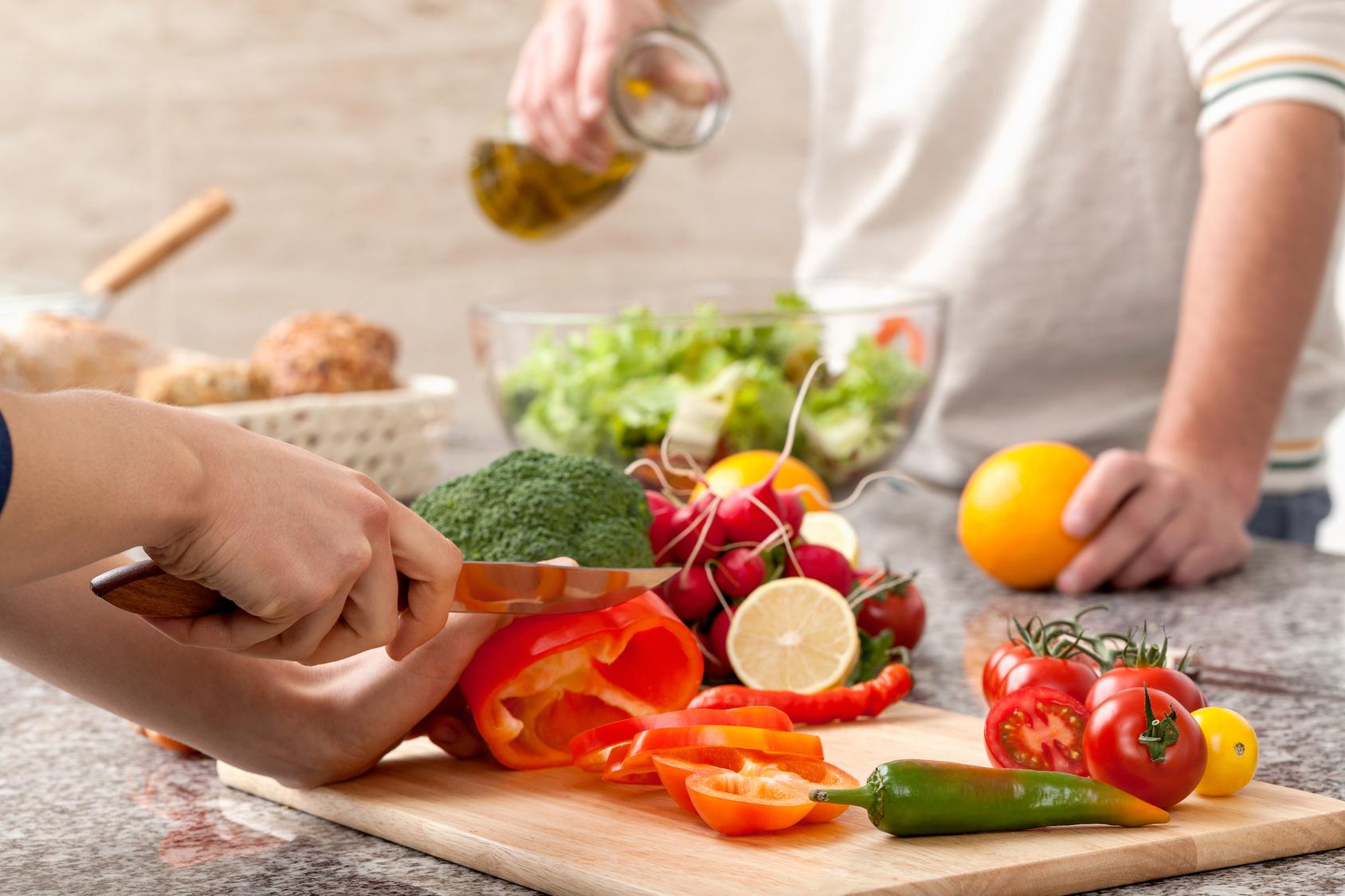 gesunde Lebensmittel zum Kochen