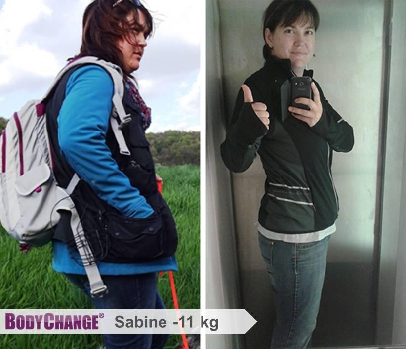 Sabine hat mit BodyChange 11 kg abgenommen