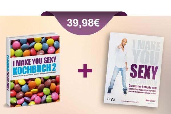 die beiden imakeyousexy Kochbücher zum Vorteilspreis von 39,98 € sichern