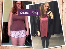 Cinzia im vorher nachher Vergleich
