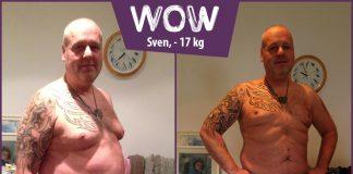 Sven zeigt seinen Oberkörper nachdem er mit BodyChange abgenommen hat
