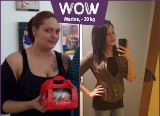 Marina im Vorher-Nachher Vergleich