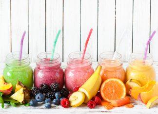 Fruktose ist in Frucht-Smoothies im Glas