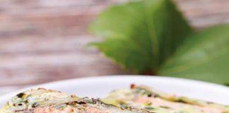 Zucchini-Lachs-Lasagne mit Lachsfilet