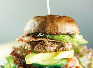 Lamm Burger mit Portobello-Pilz