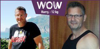 Harry zieht zu große Hose weg