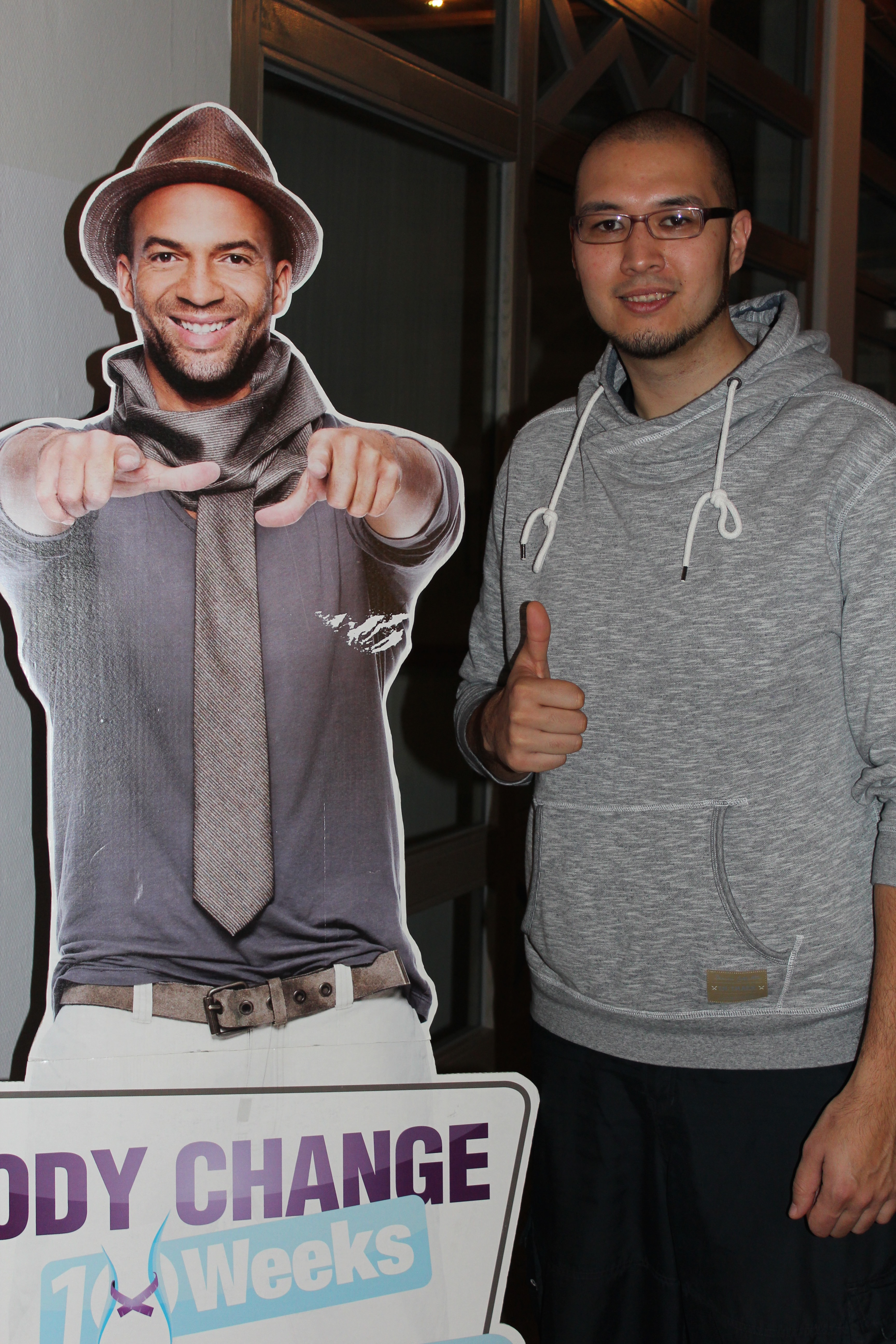 BodyChanger Dennis mit seinem Vorbild Detlef Soost