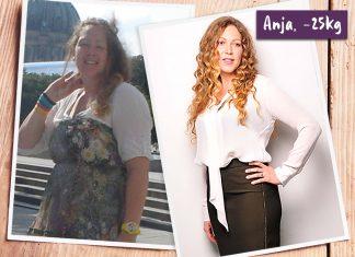 Anja im vorher-nachher-Vergleich