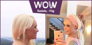 Daniela im vorher nachher Vergleich