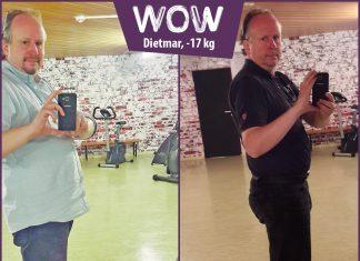 Dietmar im Vergleich vor dem Spiegel