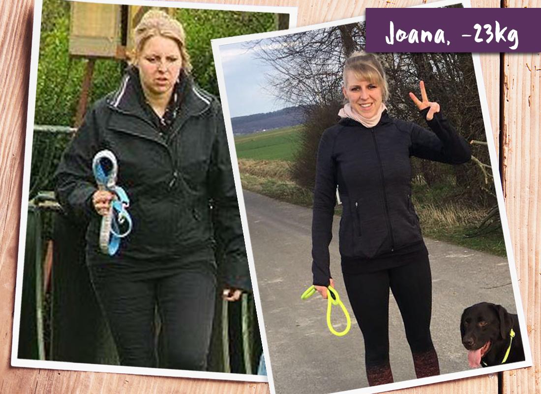 Joana im vorher-nachher-Vergleich