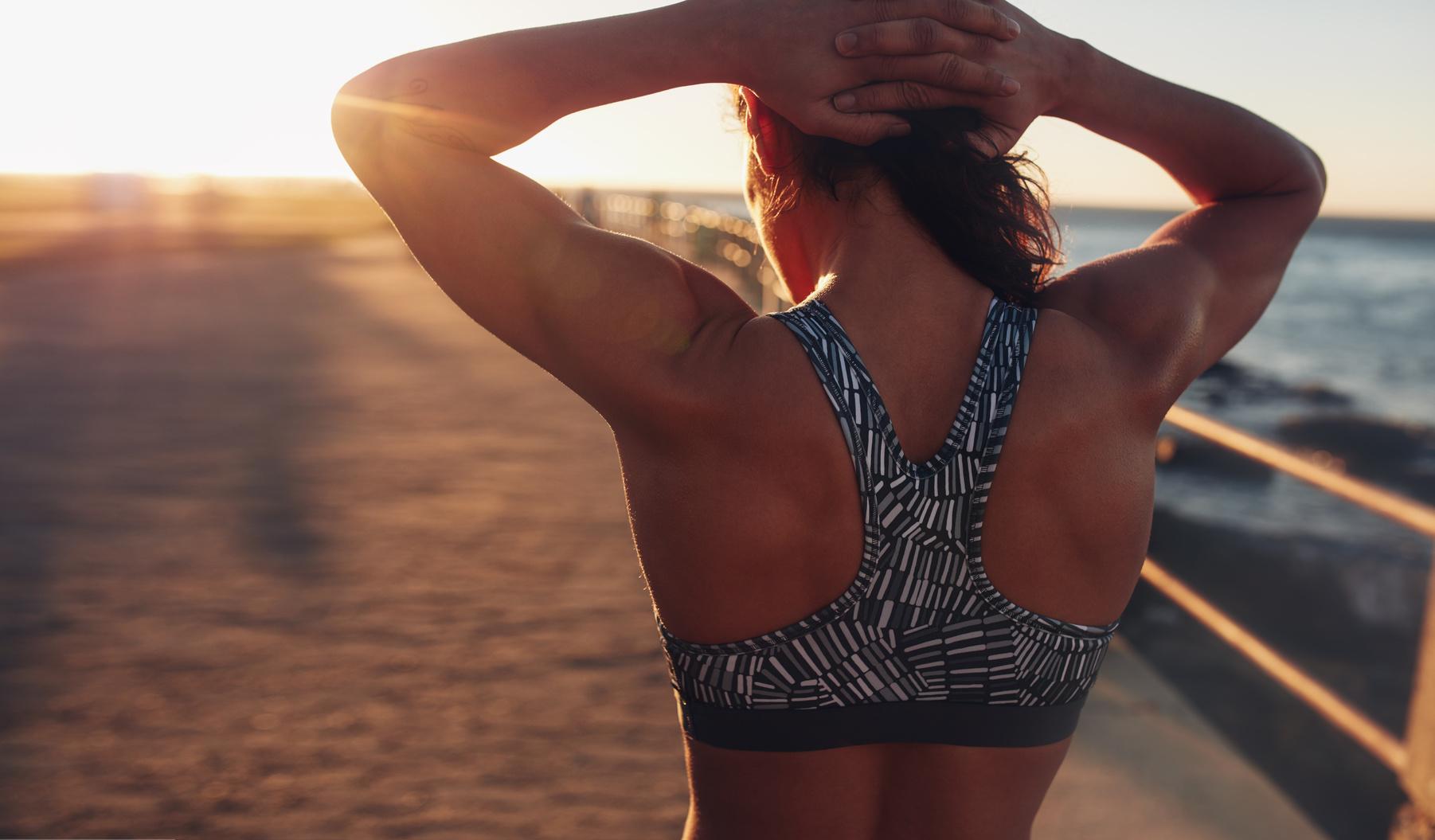 Workout bei Sonnenaufgang
