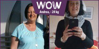 Andrea im Vorher-Nachher-Vergleich