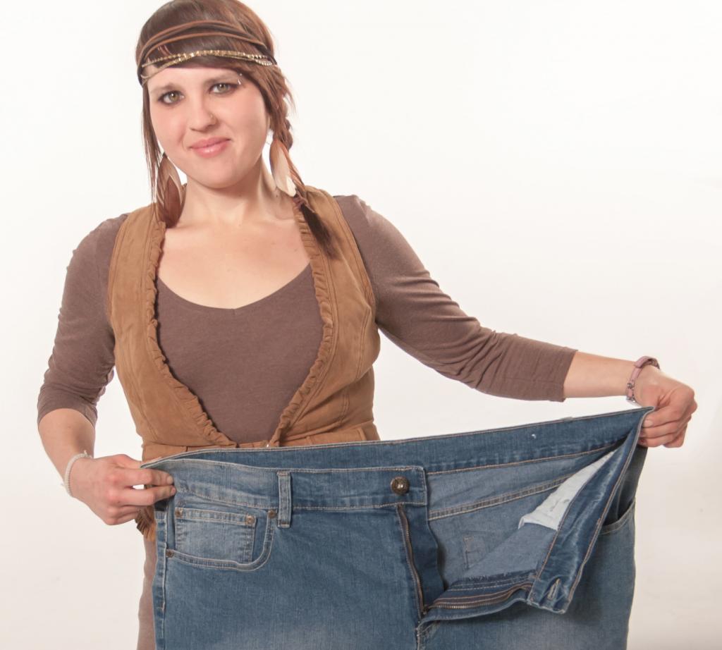 Jessica zeigt ihre alte Hose