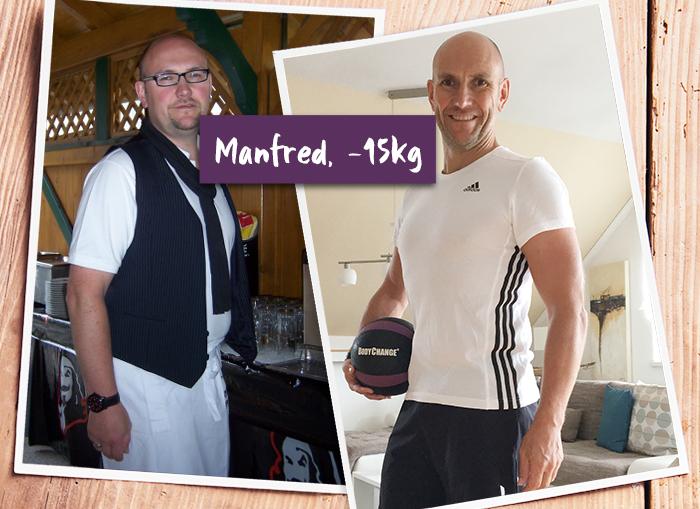 Manfred im Vorher-Nachher-Vergleich