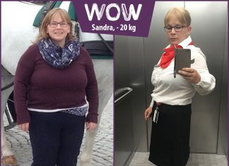 Sandra im Vorher-Nachher-Vergleich