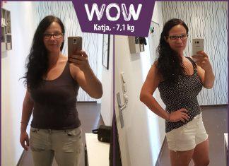 Katja im Vorher-Nachher-Vergleich