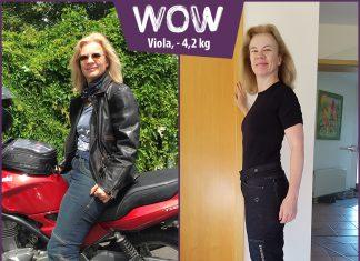 Viola im Vorher-Nachher-Vergleich