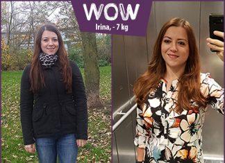 Irina im Vorher-Nachher-Vergleich