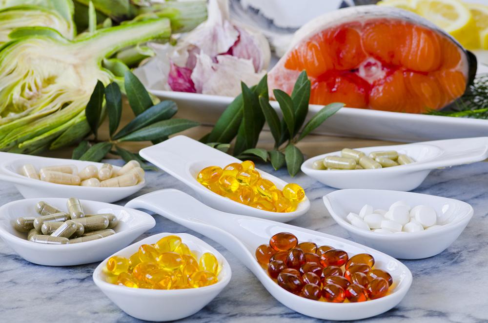 Nahrungsergänzungsmittel, verschiedene Tabletten
