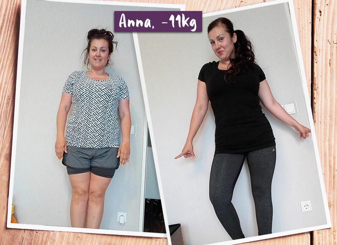 Anna im vorher-nachher-Vergleich