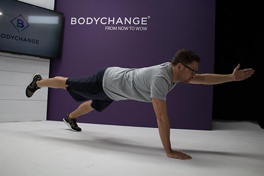 Gerhard Bloechl beim Workout