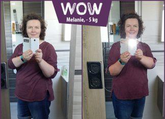 Melanie im Vorher-Nachher-Vergleich