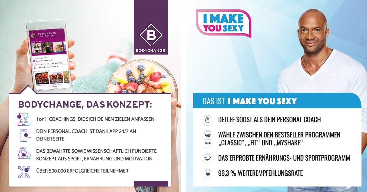 Bodychange das Konzept versus i make you sexy