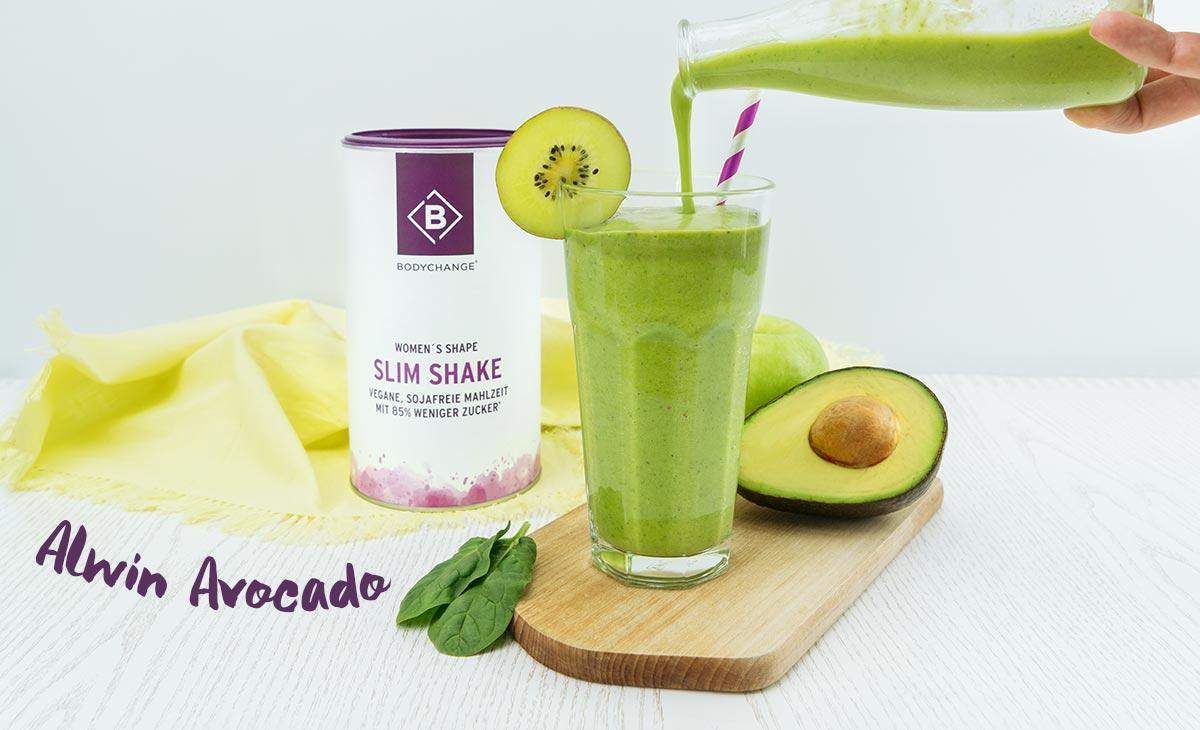 grüner Shake mit Avocado Apfel